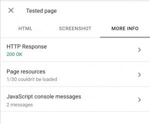 PWA SEO - Google Search Console Test live URL
