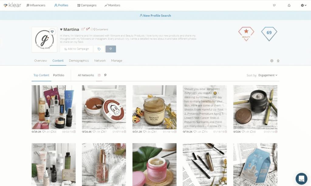 Klear Influencer Tool - Find Influencer for Brands