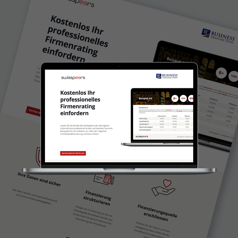 swisspeers Fintech Startup – SEO project